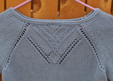 Cabaret Raglan Neckline Close-Up
